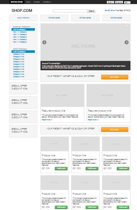 Download Mockup Dan Wireframe Yellowimages