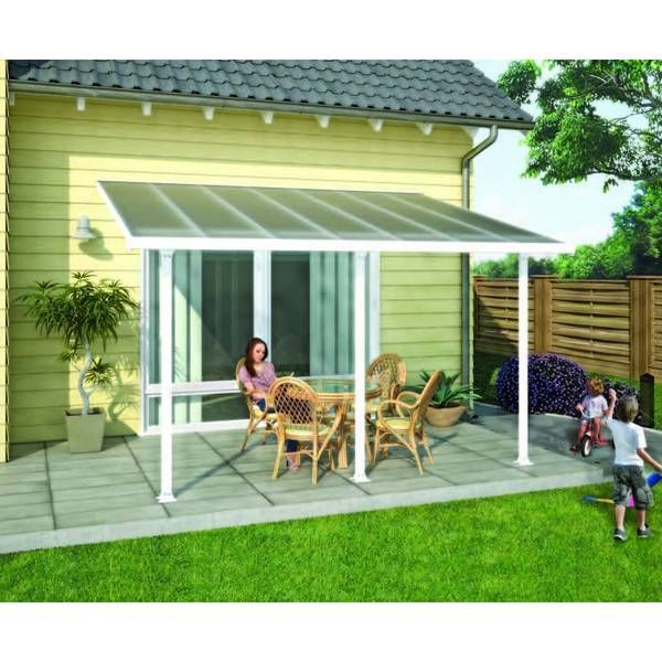 Make Your Outside Look Beautiful With This Feria White 10x10 Patio Cover.  This White Patio Cover Is Made Of Durable Polycarbonate And Aluminum To  Bring You ...