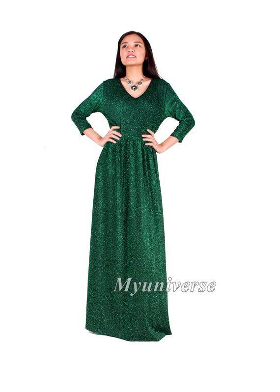 0149ff7001d Shinning Maxi Dress Glitter Evening Gown Sparkly Formal Dress Long Plus Size  Dress Bridesmaid Women