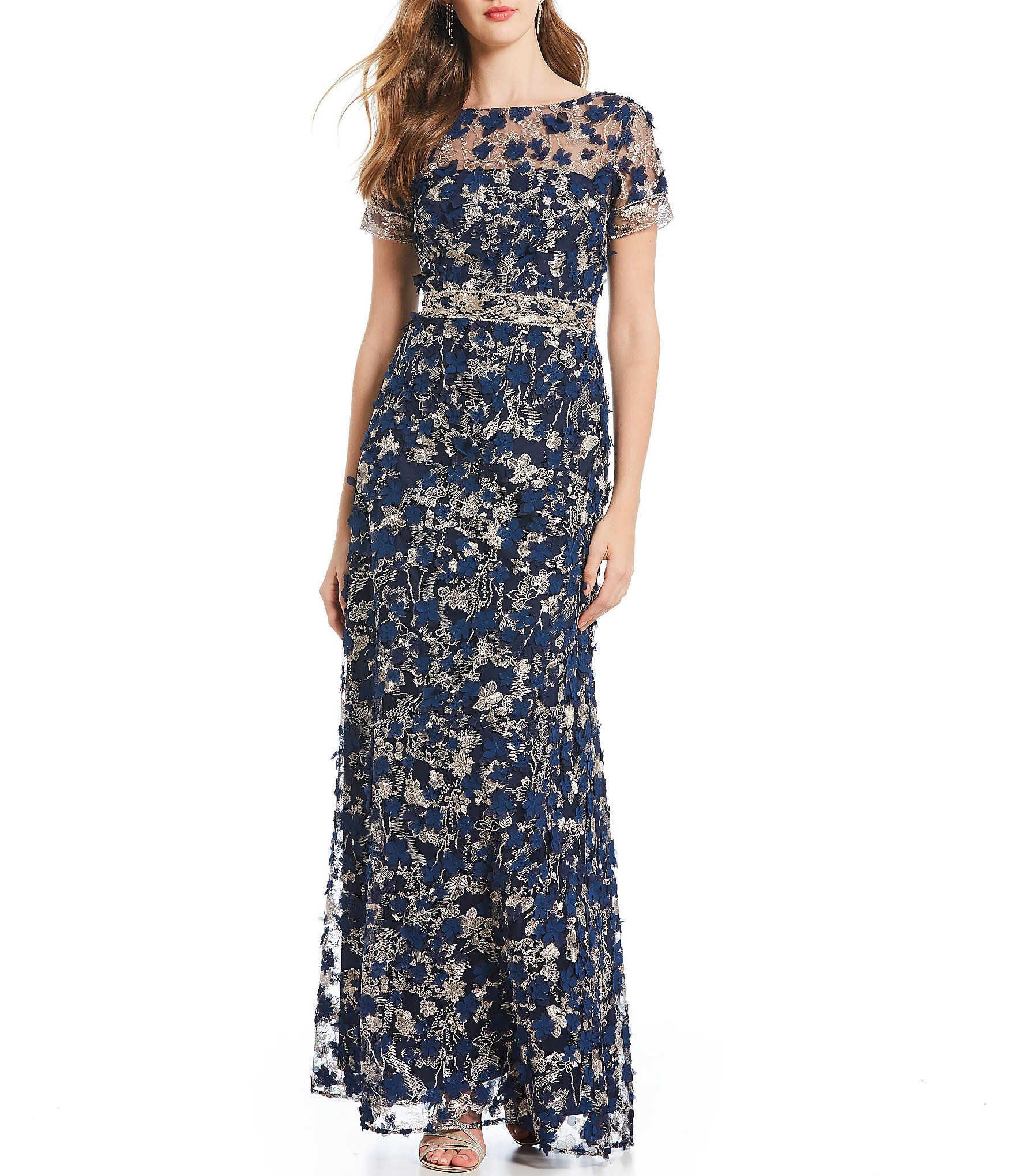 9ae7bc3d9fe Shop for David Meister 3-D Fleurette Embroidered Gown at Dillards.com.  Visit Dillards.com to find clothing