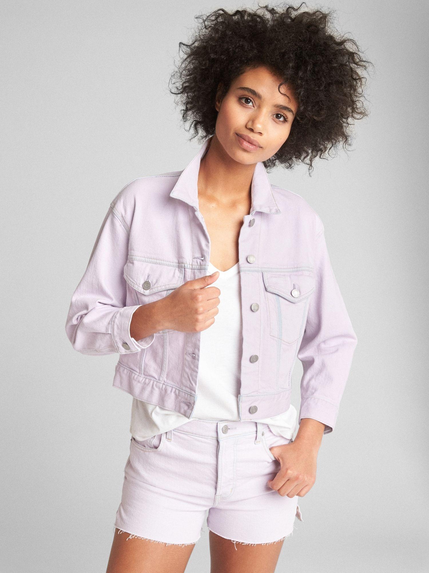 Lavender Jean Jacket Affordable Trendy Clothes Lavender Jeans Black Friday Shopping [ 2000 x 1500 Pixel ]