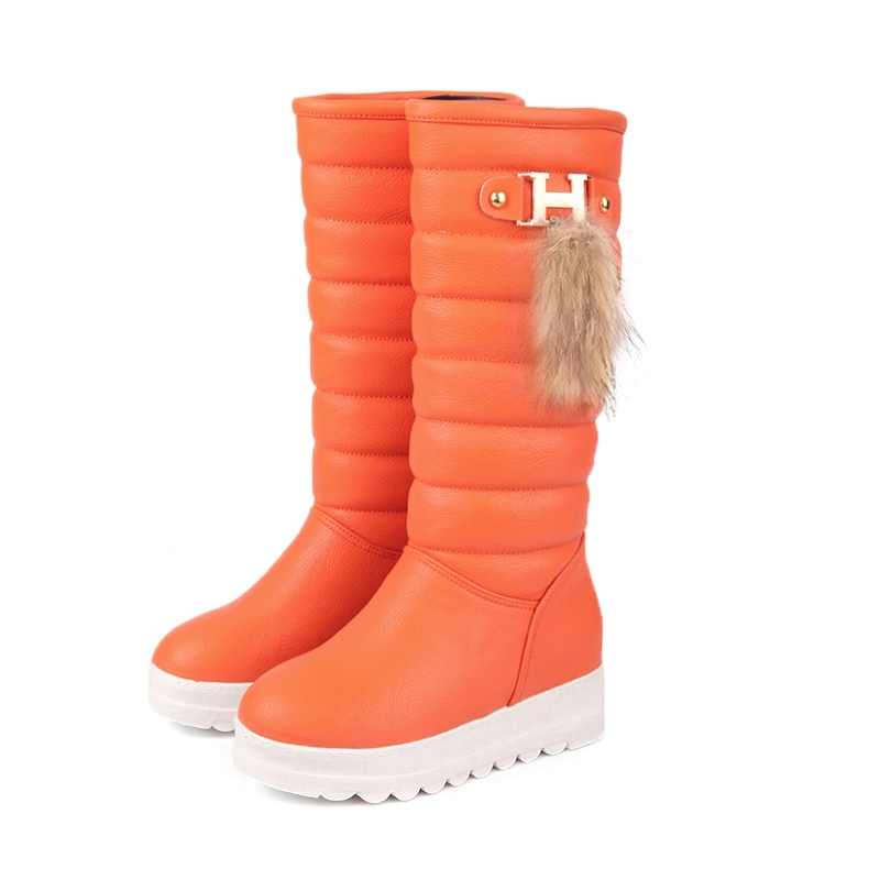 68.80$  Watch here - http://alintk.worldwells.pw/go.php?t=32230309718 - 803 plus size 2014 ladies fashion winter knee high knight shoes women botas mujer flat heel long bottes femmes moon snow boots 68.80$
