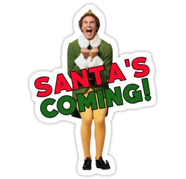 Buddy The Elf Christmas Santa Sticker By Alyssa Mio Buddy The Elf Buddy The Elf Meme Christmas Elf