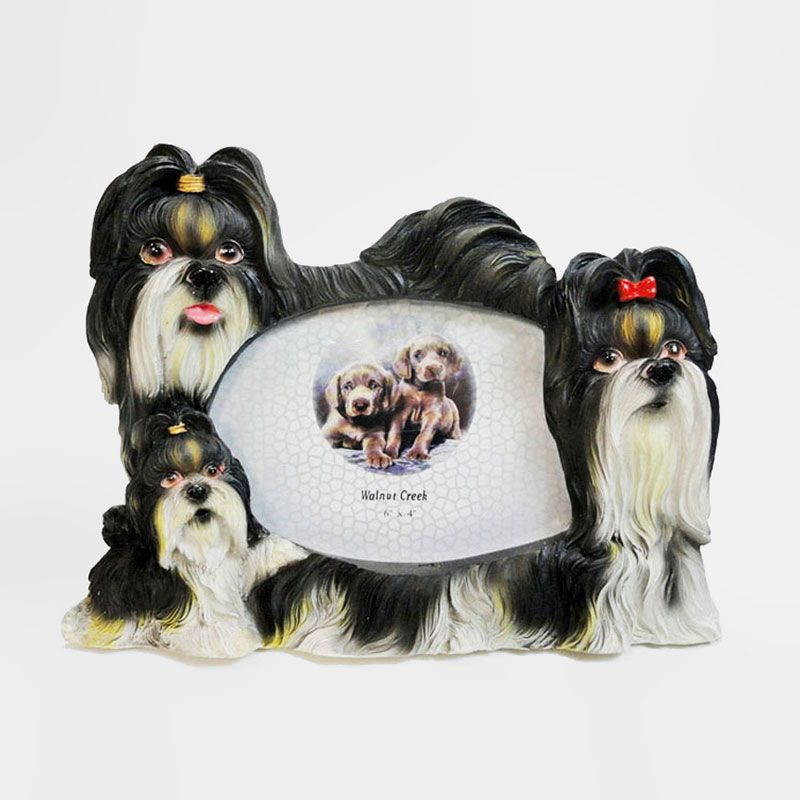 Shih Tzu Dog Photo Frame Holds One 6x4 Picture Dog Photo Frames