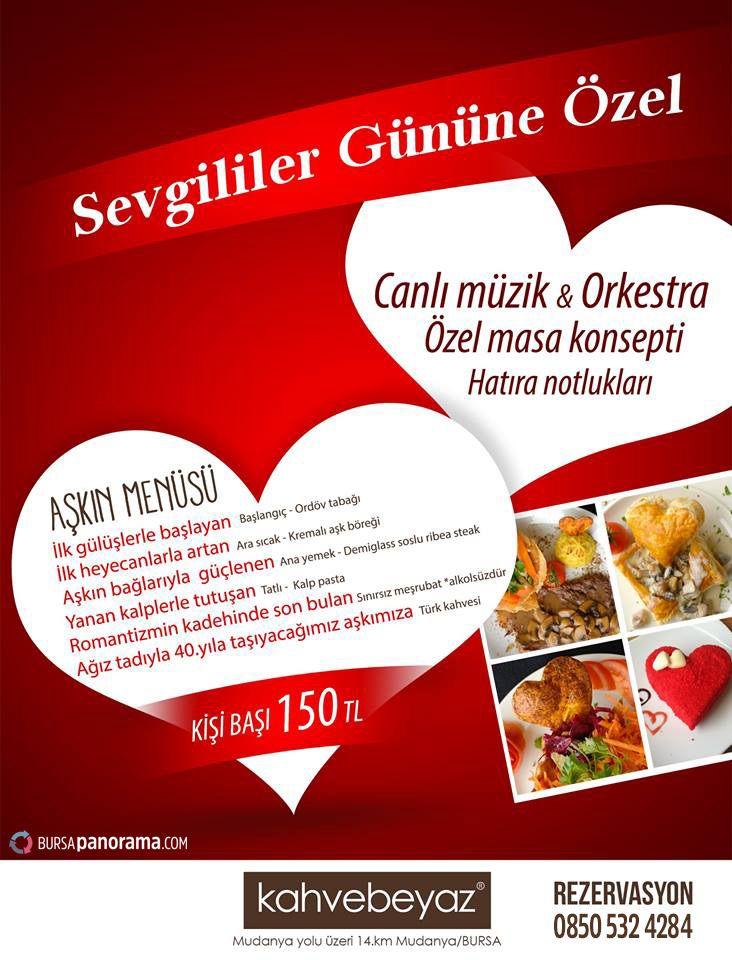 Photo of Sevgililer Günü ve Kahvebeyaz'da Romantik Akşam Yemeği