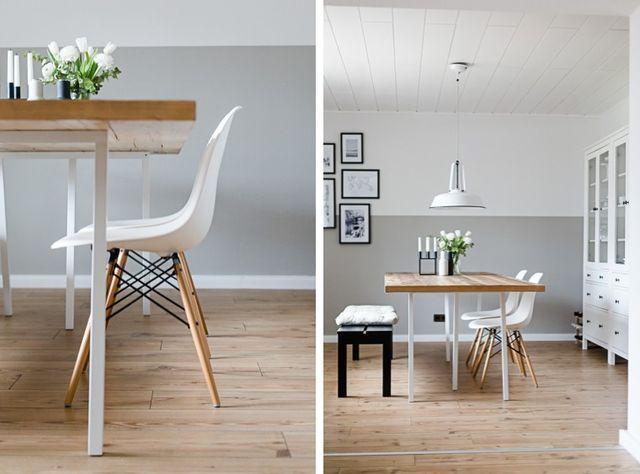 Esszimmer skandinavischer stil grau  Unser Esszimmer (Dreierlei Liebelei) | Esszimmer