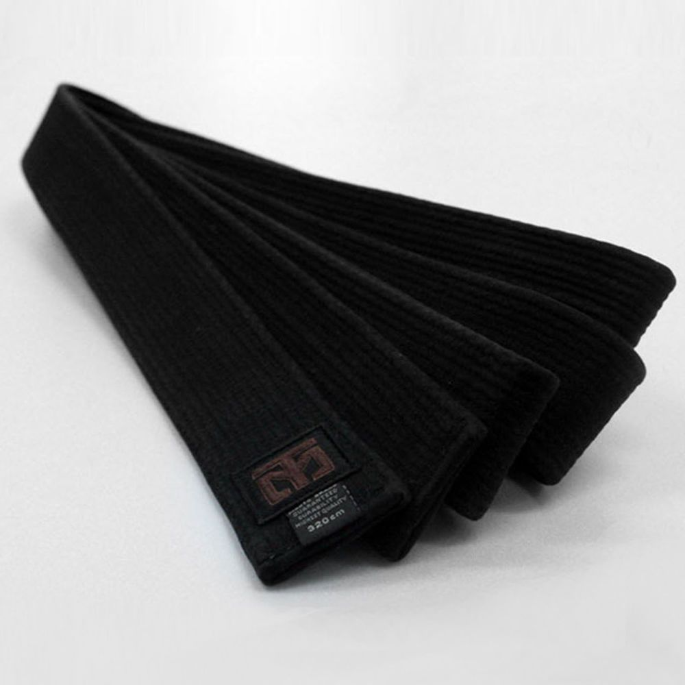 Taekwondo Fighter Black Belt Single Wrap Mooto MMA TKD Dan Rank Martial Arts