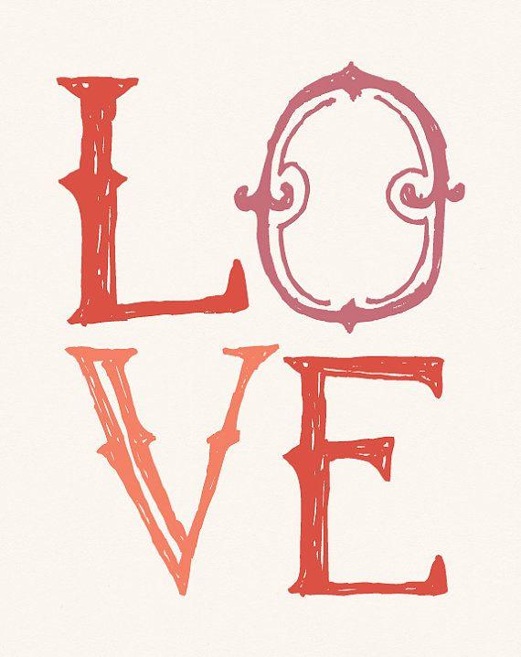 Whimsical Love poster print on Etsy.