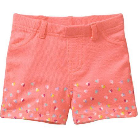 Garanimals Toddler Girls/' Printed Knit Cuffed Jegging Shorts