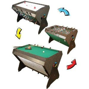 Amazon Com 3 In 1 Game Table Pool Table Air Hockey And Foosball Combination Game Tables Table Games Small Game Rooms Game Room Family