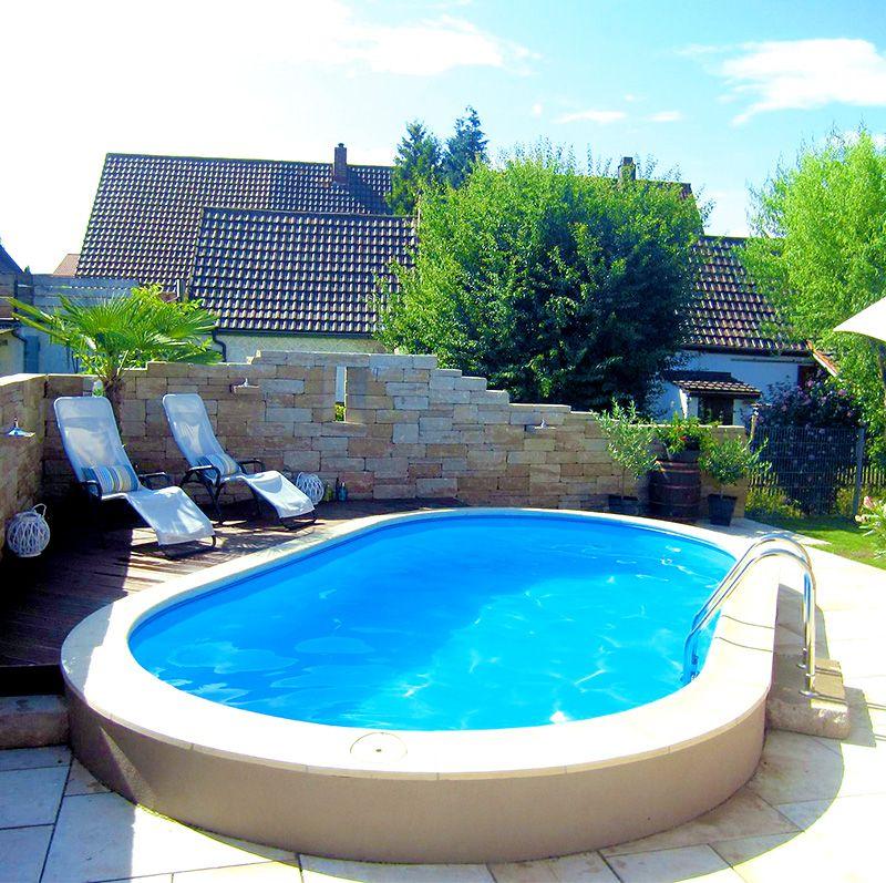 Zu Hause Wie In Der Toskana Da Kommt Urlaubsfeeling Auf Ovalpool Pool Schwimmbecken Garten Gartenpool Ovalpool Ovaler Pool Gunstiger Pool
