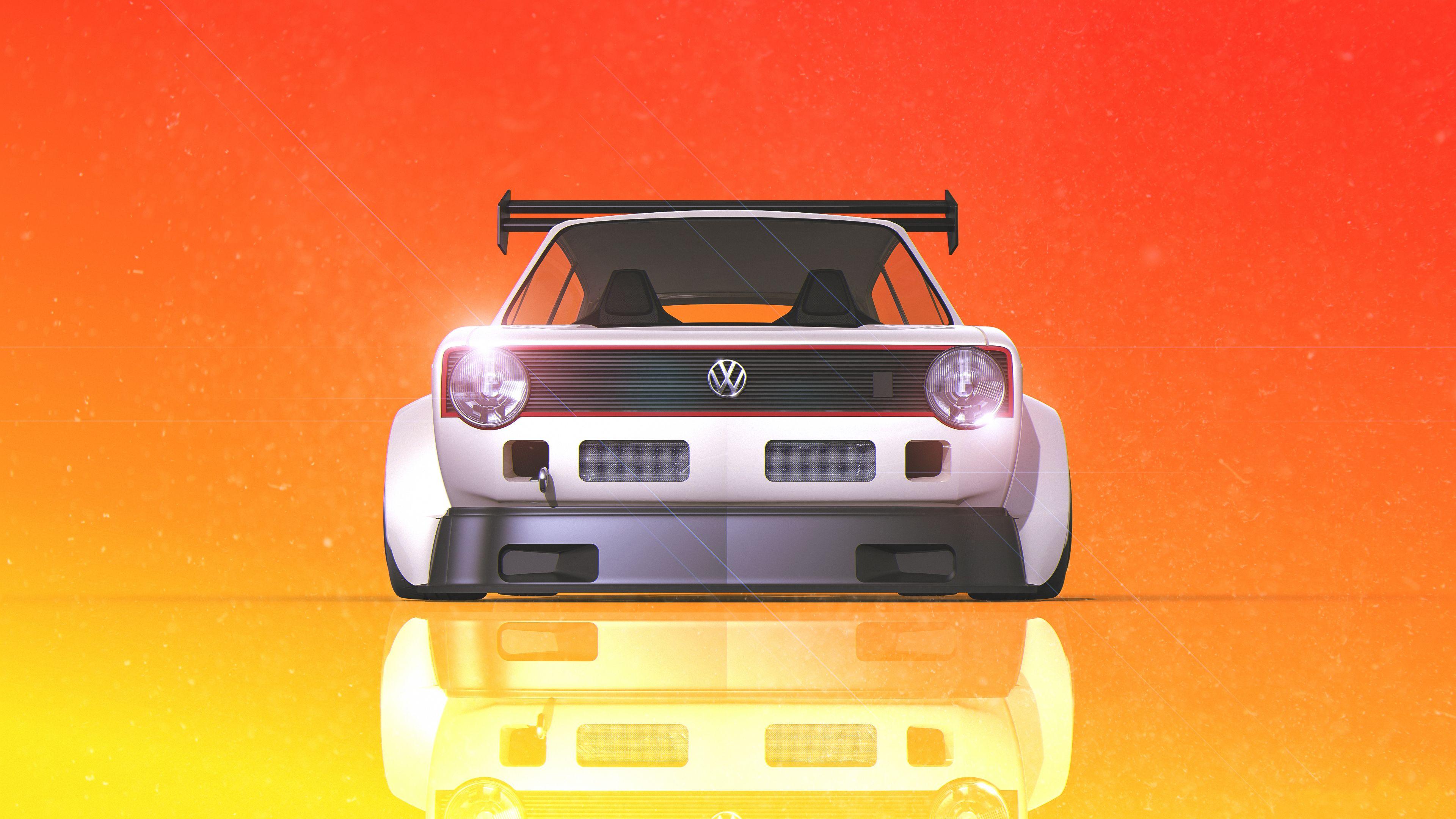 Volkswagen Golf Gti Digital Art 4k Volkswagen Wallpapers Volkswagen Gti Wallpapers Hd Wallpapers Digital Art Wallp Volkswagen Car Wallpapers Volkswagen Golf