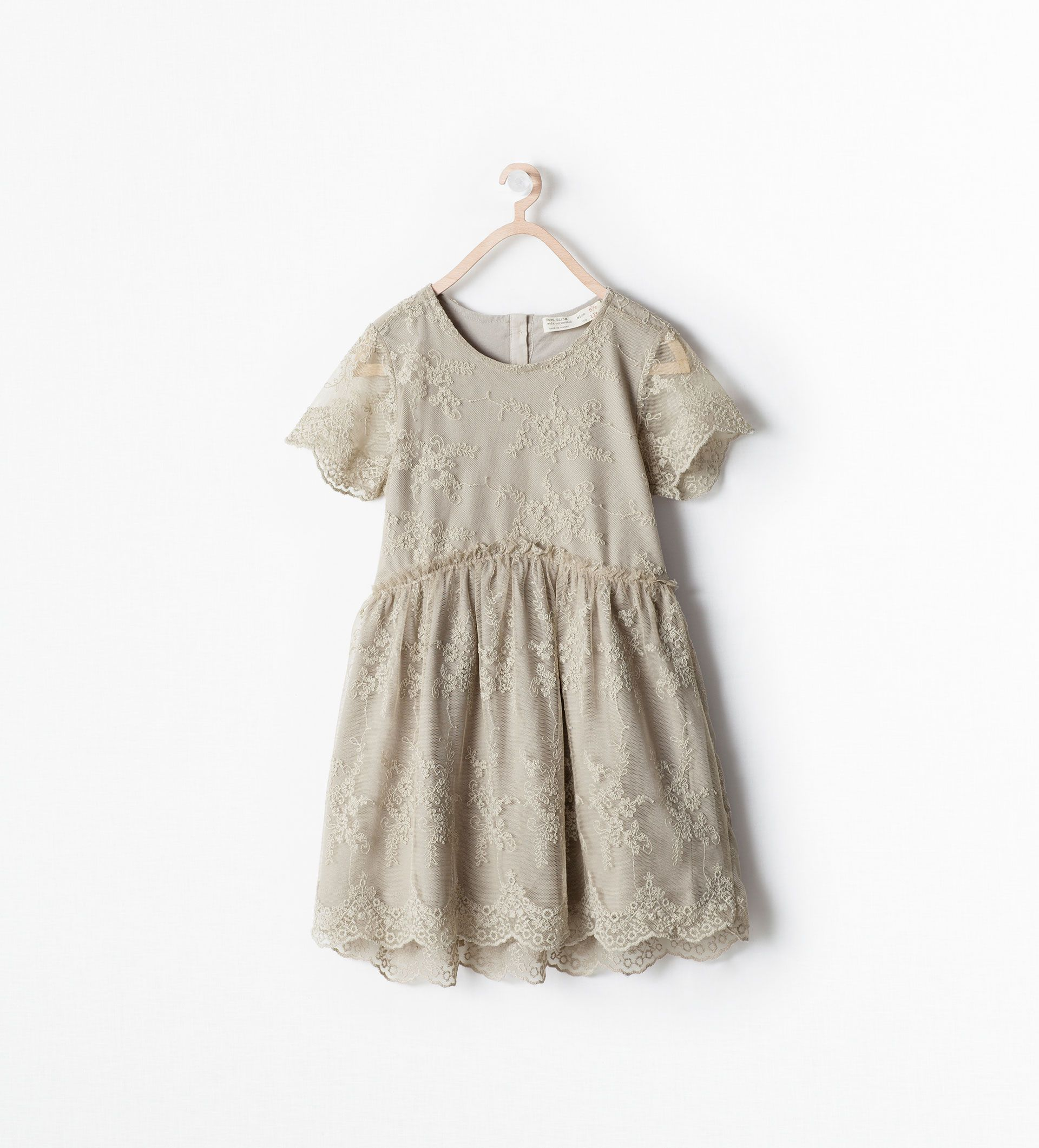 9fd55cac6a2 Little Girls EMBROIDERED TULLE DRESS from Zara | lookbook: what to ...