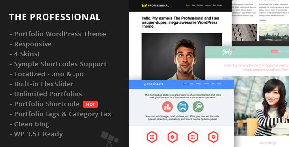 The Professional WordPress Theme | WordPress Themes | Pinterest ...
