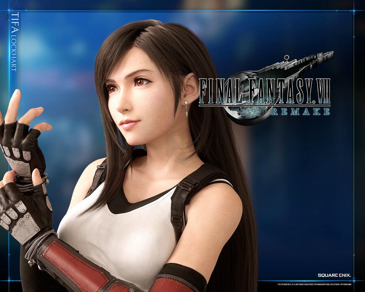 Final Fantasy 7 Remake The Available Set Of Avatars And Wallpapers Dedicated To Tifa Final Fantasy Tifa Lockhart Final Fantasy Vii