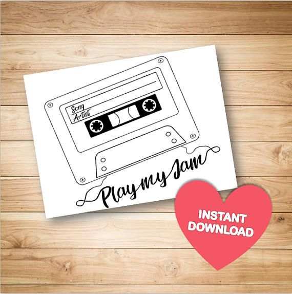 Printable Song Request Cards Cards For Wedding