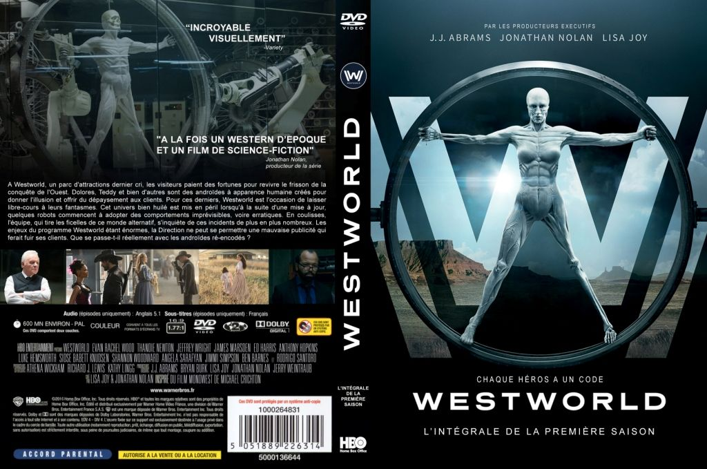 westworld cover dvd serie
