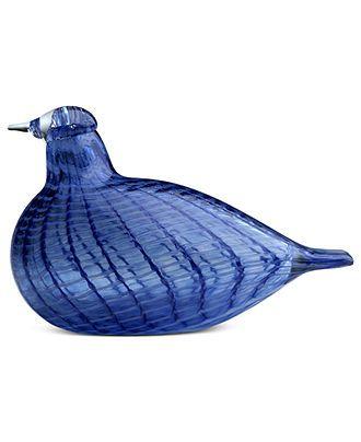 Iittala Art Glass, Toikka Birds Blue Bird - Home Decor - For The Home - Macy's