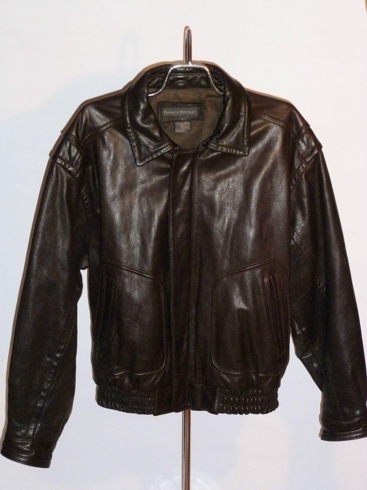 Men's Banana Republic Leather Jacket Jackets, Leather