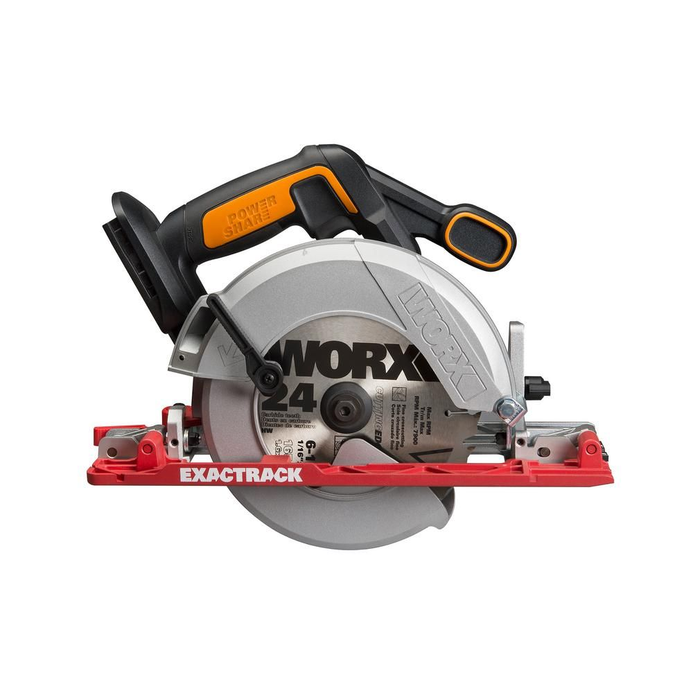 Worx 20 Volt 6 1 2 In Circular Saw Tool Only Wx530l 9 Saw Tool Circular Saw Cordless Circular Saw
