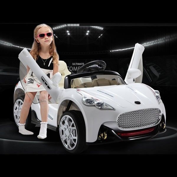 maserati style 12v kids ride on car electric powered wheels remote control white in toys