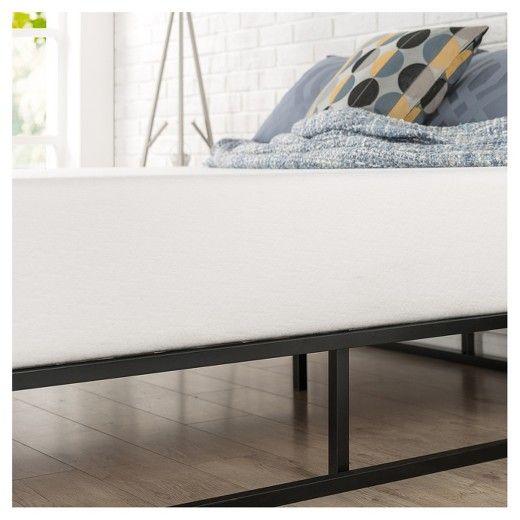 Joseph Steel Platform Bed Frame Zinus With Images Low
