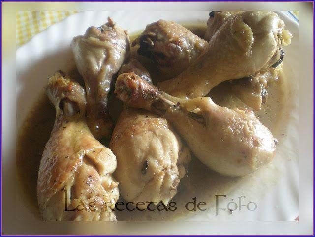 Las Recetas De Fófo Jamoncitos De Pollo En Bolsa De Asar Pollo Comida Muslos De Pollo