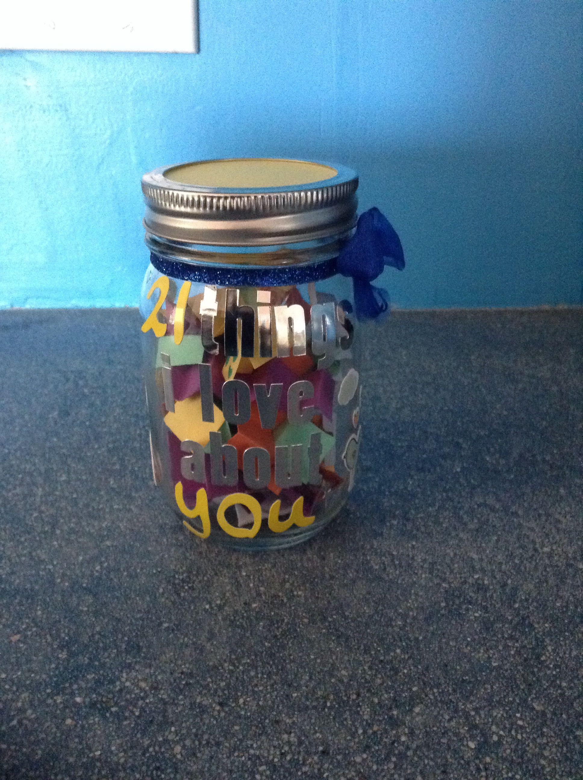 Gift for boyfriend st birthday mason jar crafts diy