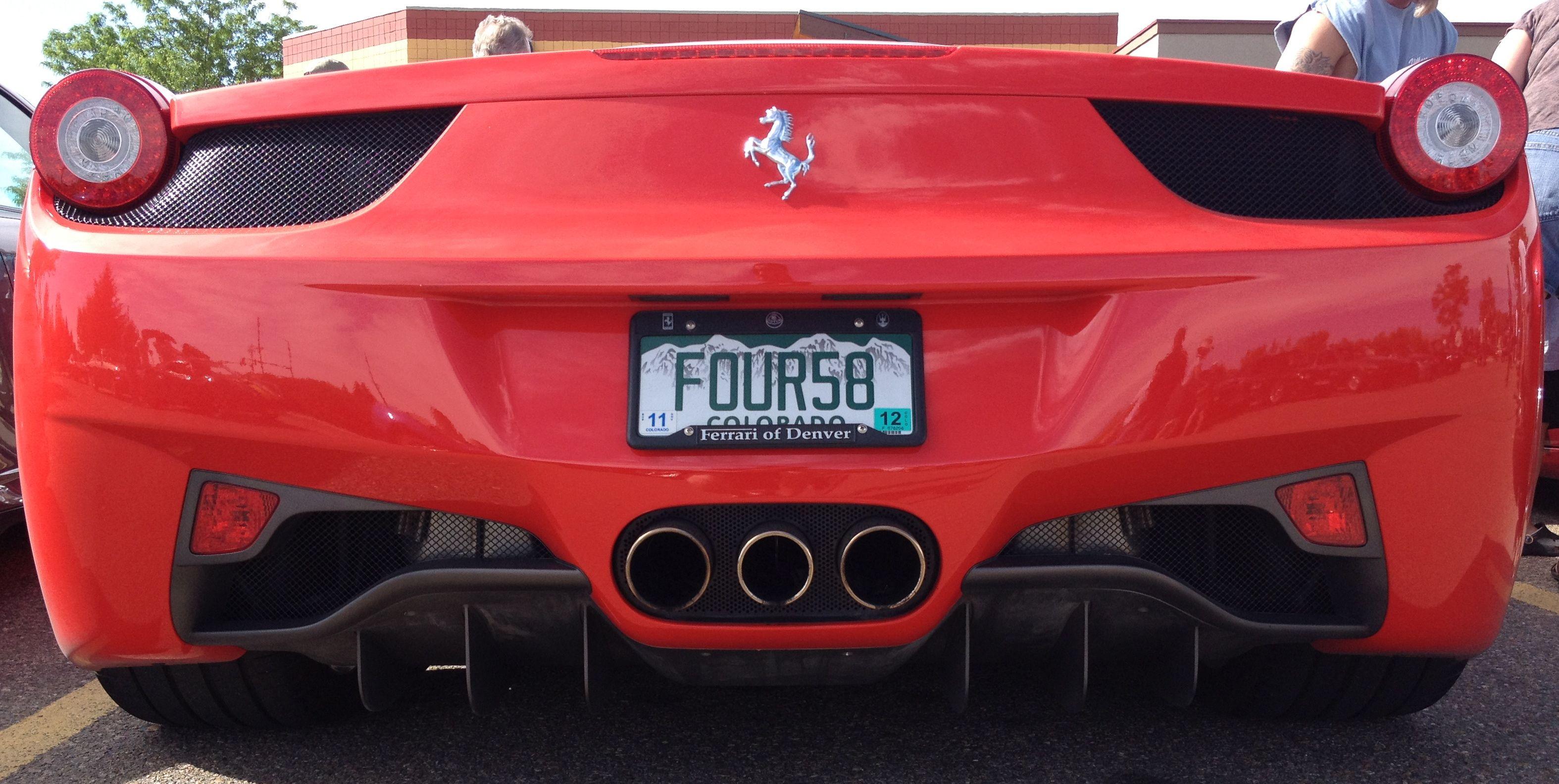 Ferrari 458 italia license plate ferrari car bmw car