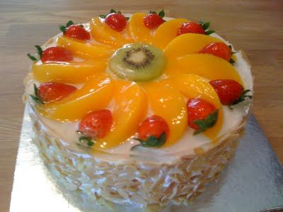 Cookiss Sheryls Kitchen Fruity Birthday Cake Cakes Pinterest
