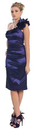 Amazon.com: One Shoulder Bridesmaid Prom Short Dress #2804: Clothing