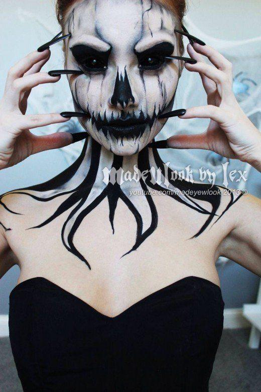 30 diy halloween costume ideas skeleton makeup diy halloween 30 diy halloween costume ideas solutioingenieria Gallery
