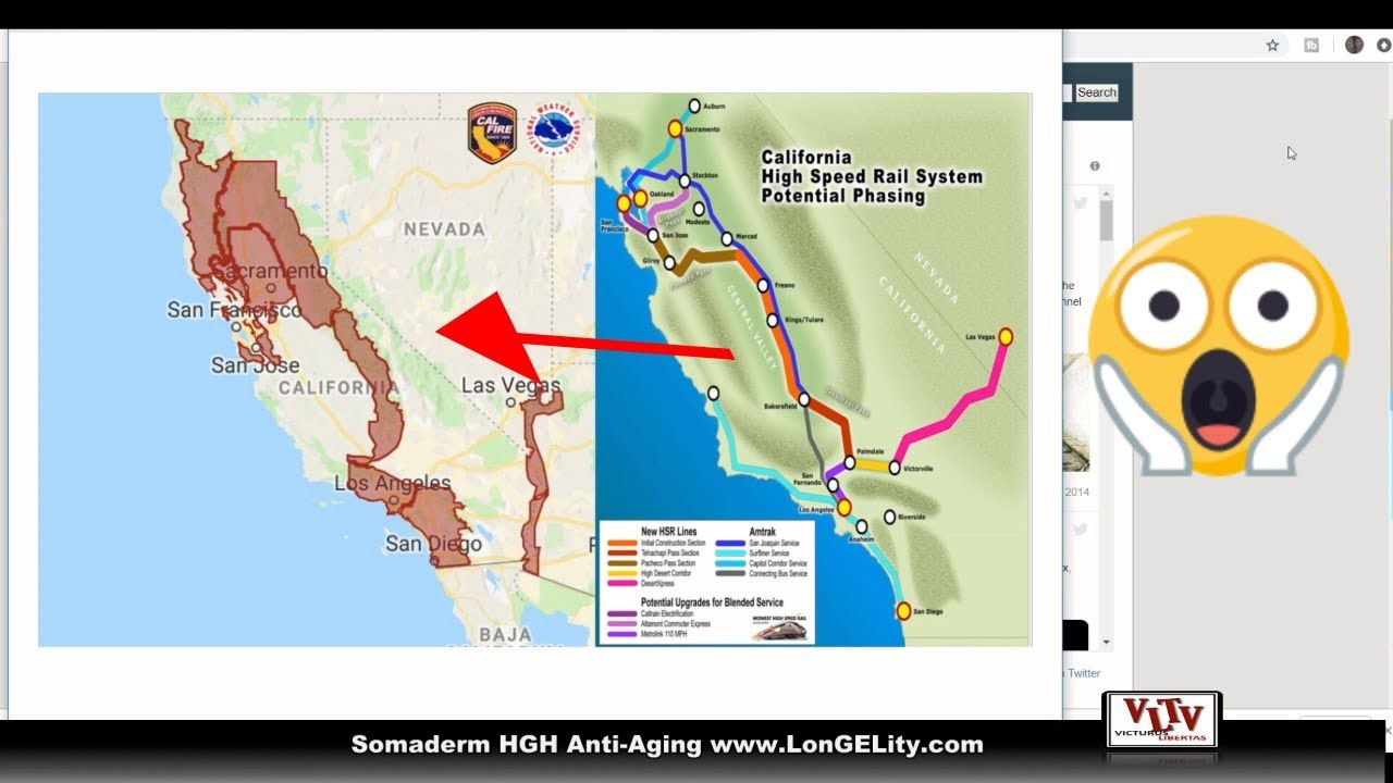 DEW Fires California Land Grab for America 2050 High Speed