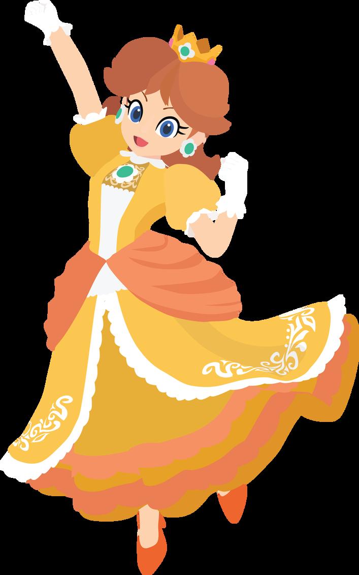 Daisy 13e Smash Bros Ultimate Vector Art by