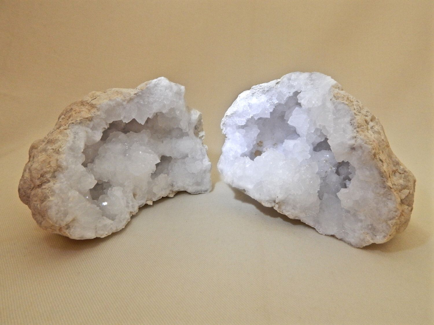Natural Moroccan Quartz Crystal Geode Pair by NaturalArtWorld on Etsy https://www.etsy.com/listing/252836788/natural-moroccan-quartz-crystal-geode