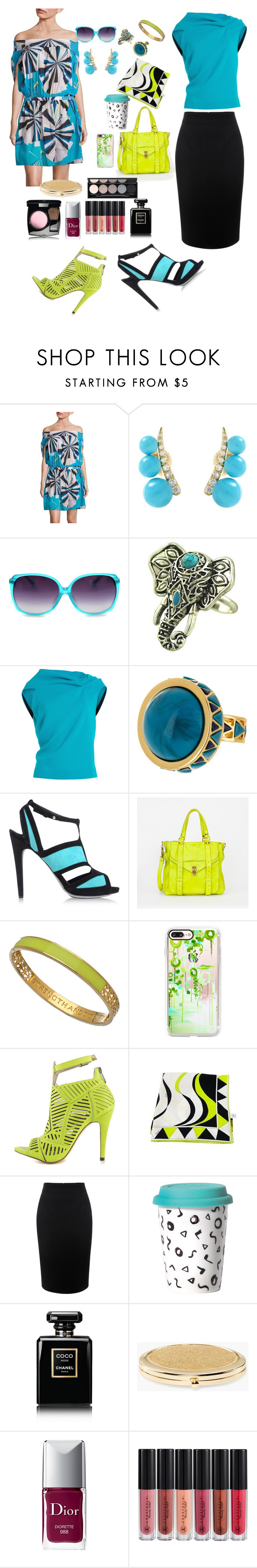 """""""💋"""" by artisans ❤ liked on Polyvore featuring Emilio Pucci, Jemma Wynne, Roland Mouret, House of Harlow 1960, Aperlaï, Proenza Schouler, Matterial Fix, Casetify, Michael Antonio and Alexander McQueen"""