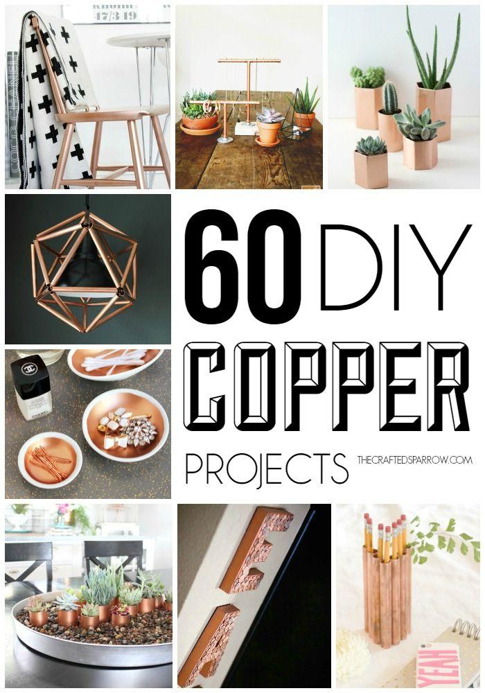 60 DIY Copper Projects Handmade home decor, Copper decor