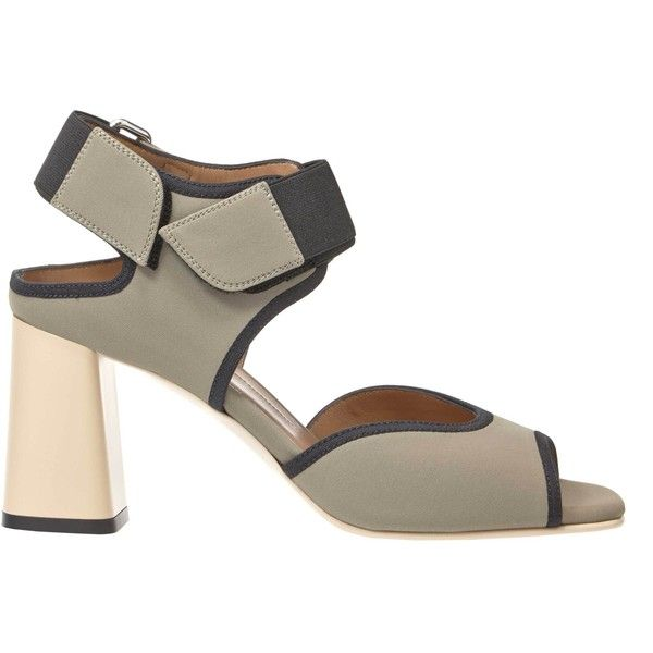 Marni Technical Sandal (2.740 BRL) ❤ liked on Polyvore featuring shoes, sandals, dust, strappy sandals, strap sandals, high heeled footwear, mary jane shoes and mary-jane shoes