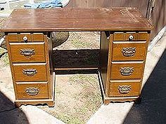 repurpose and recycle of desk, painted furniture, repurposing upcycling, There was a long drawer in the middle that we used for another project Just saw the sides from the desk top sand and paint