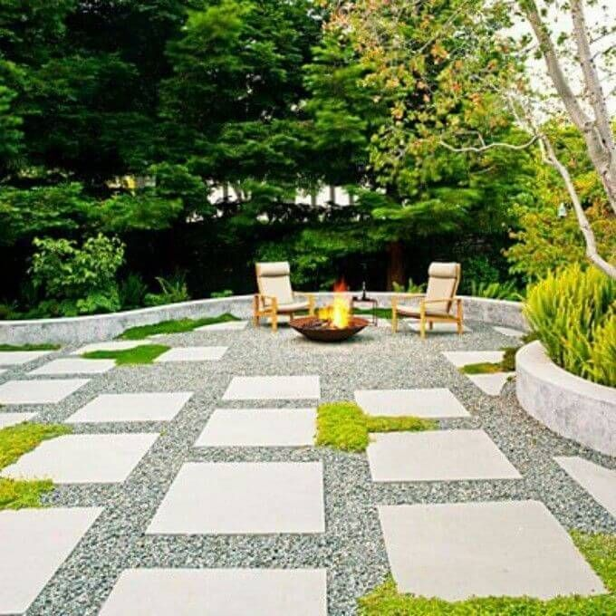 Image Result For Front Lawn No Water Landscaping Small Backyard