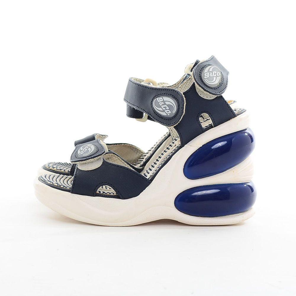 Vtg 90s Raver CLUB KID Spice Girls Sporty Kawaii Chunky PLATFORM Shoes  Sandals 5