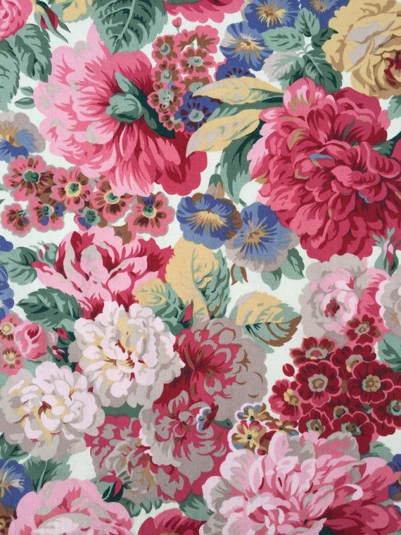 Sanderson Roses Amp Peonies Lined Curtain Fabric By