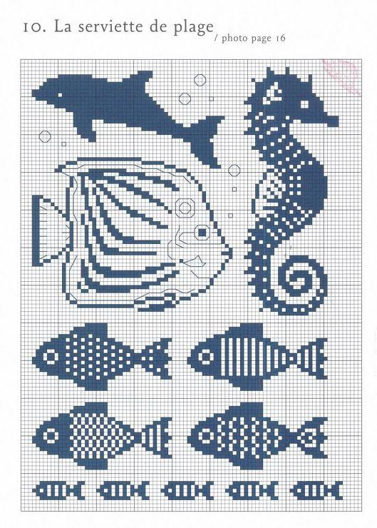 Sea Animals   Ponto cruz   Pinterest