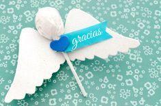 Souvenir para bautizo, ángeles con chupetines   Blog de BabyCenter