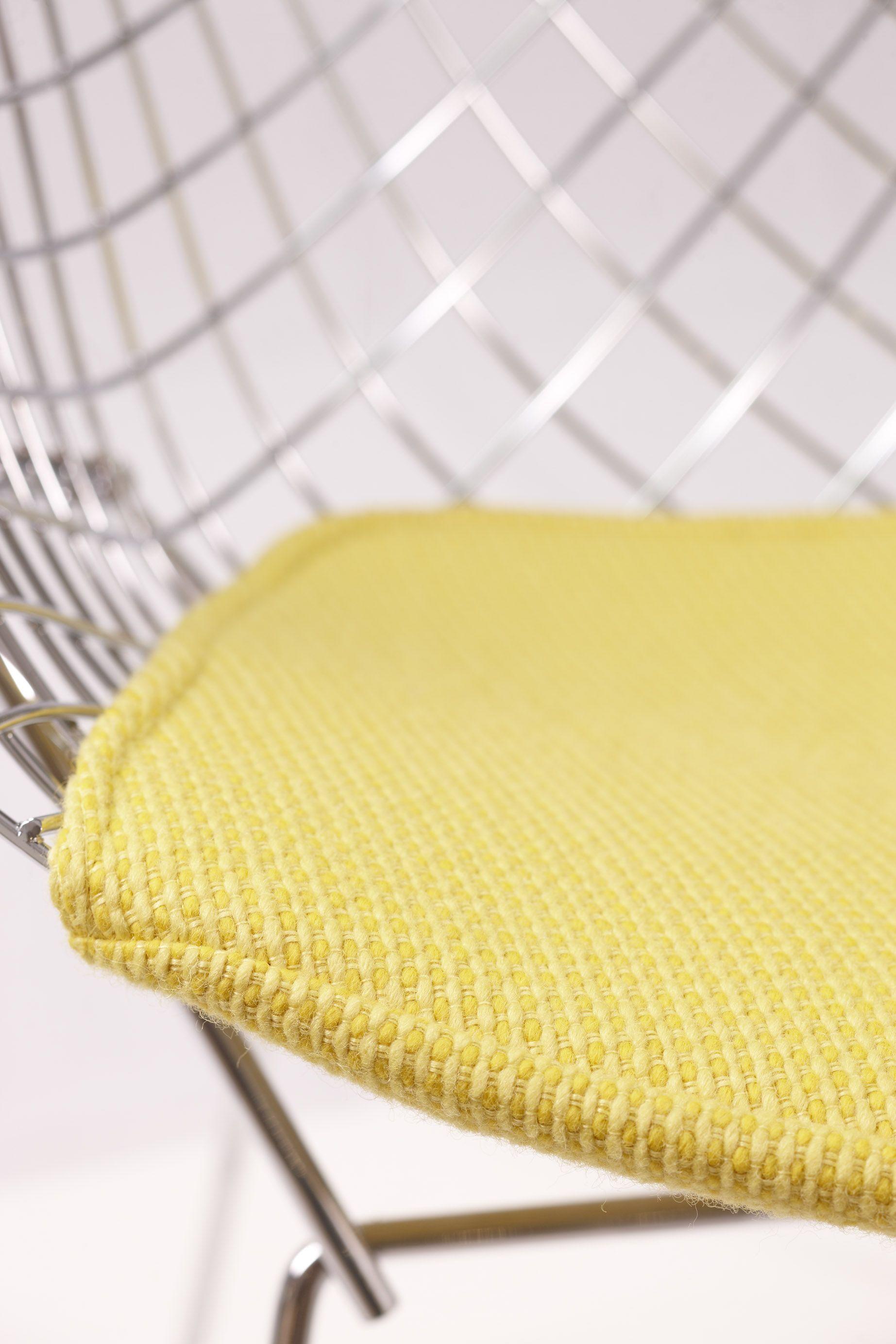 Bertoia Diamond Chair Seat Pad In Cato Upholstery