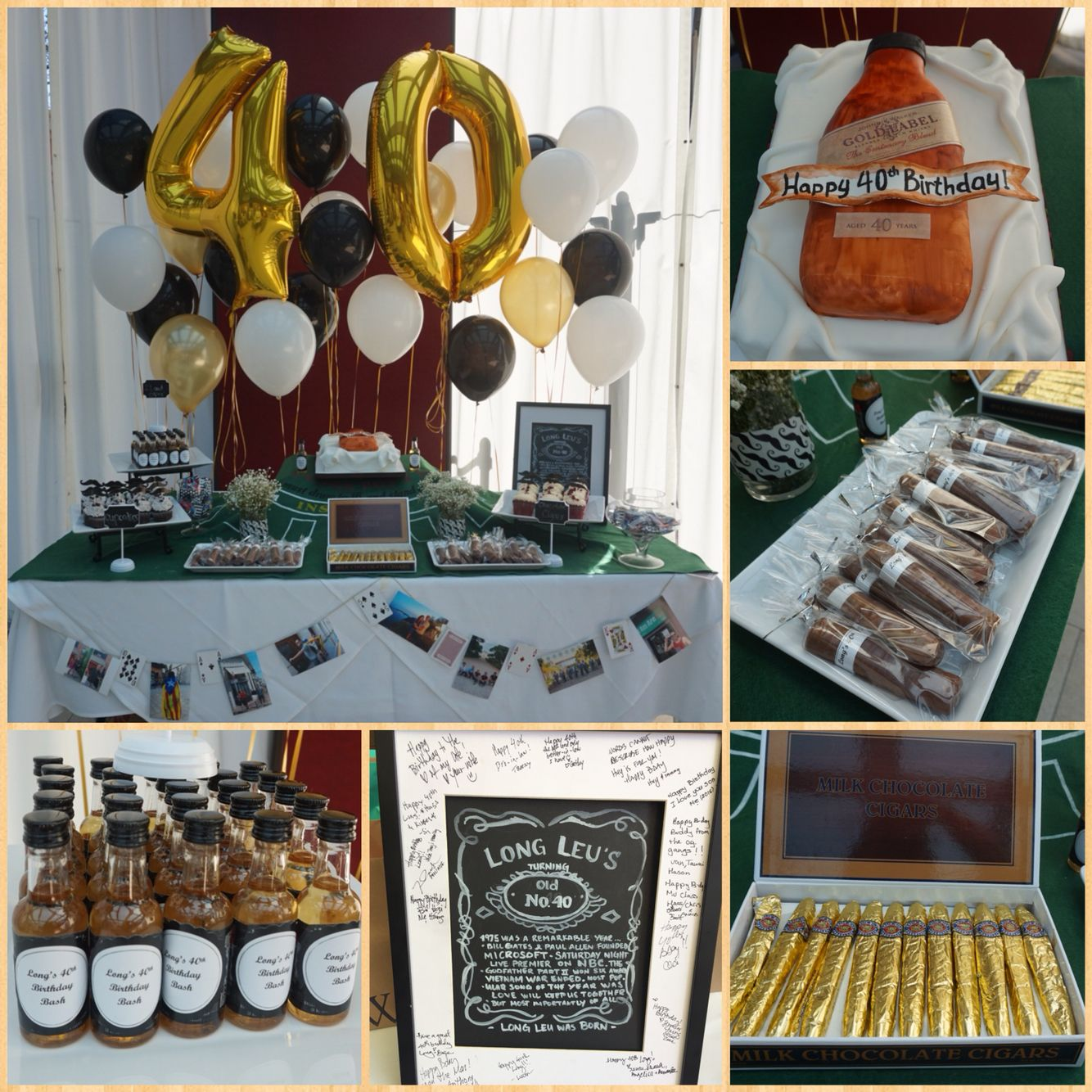 40th birthday party whiskey and cigars theme craft and for 35th birthday decoration ideas