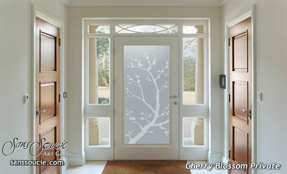 Bloom Into Spring With Floral Interior Glass Doors Sans Soucie Entry Doors With Glass Etched Glass Door Glass Front Door
