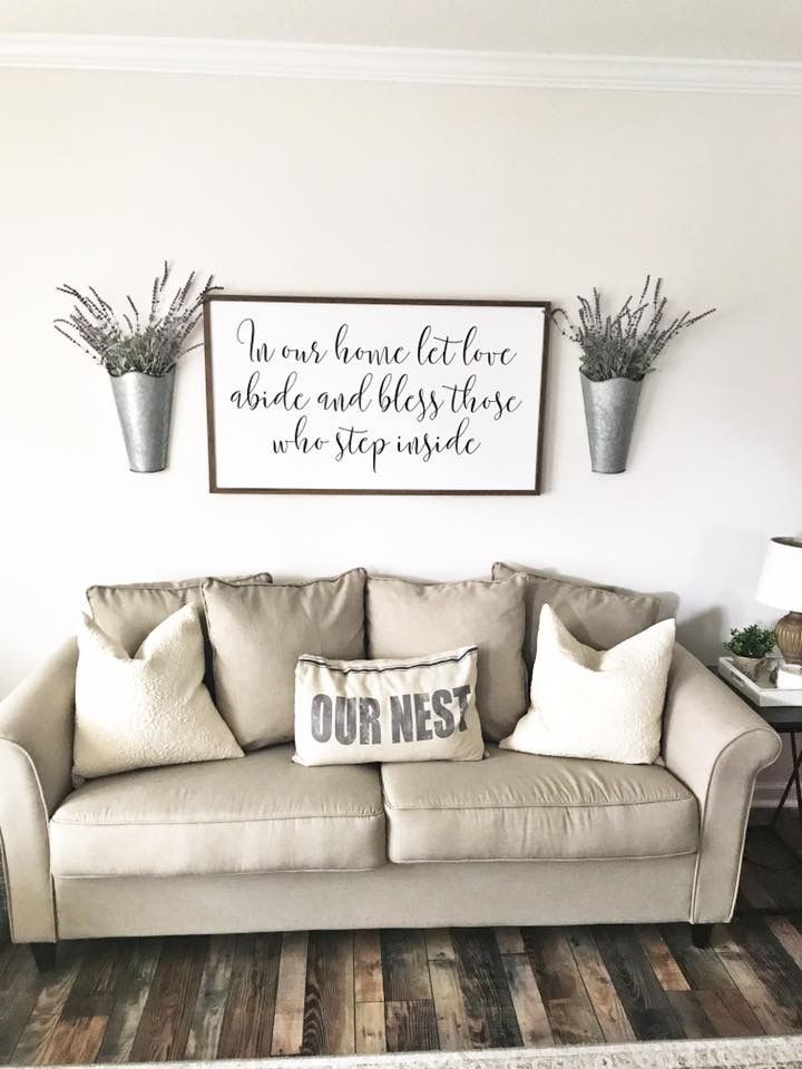 Love This Print It S At Hobby Lobby And They Have Others Similar Good Size Color Wall Decor Living Room Couch Decor Farm House Living Room