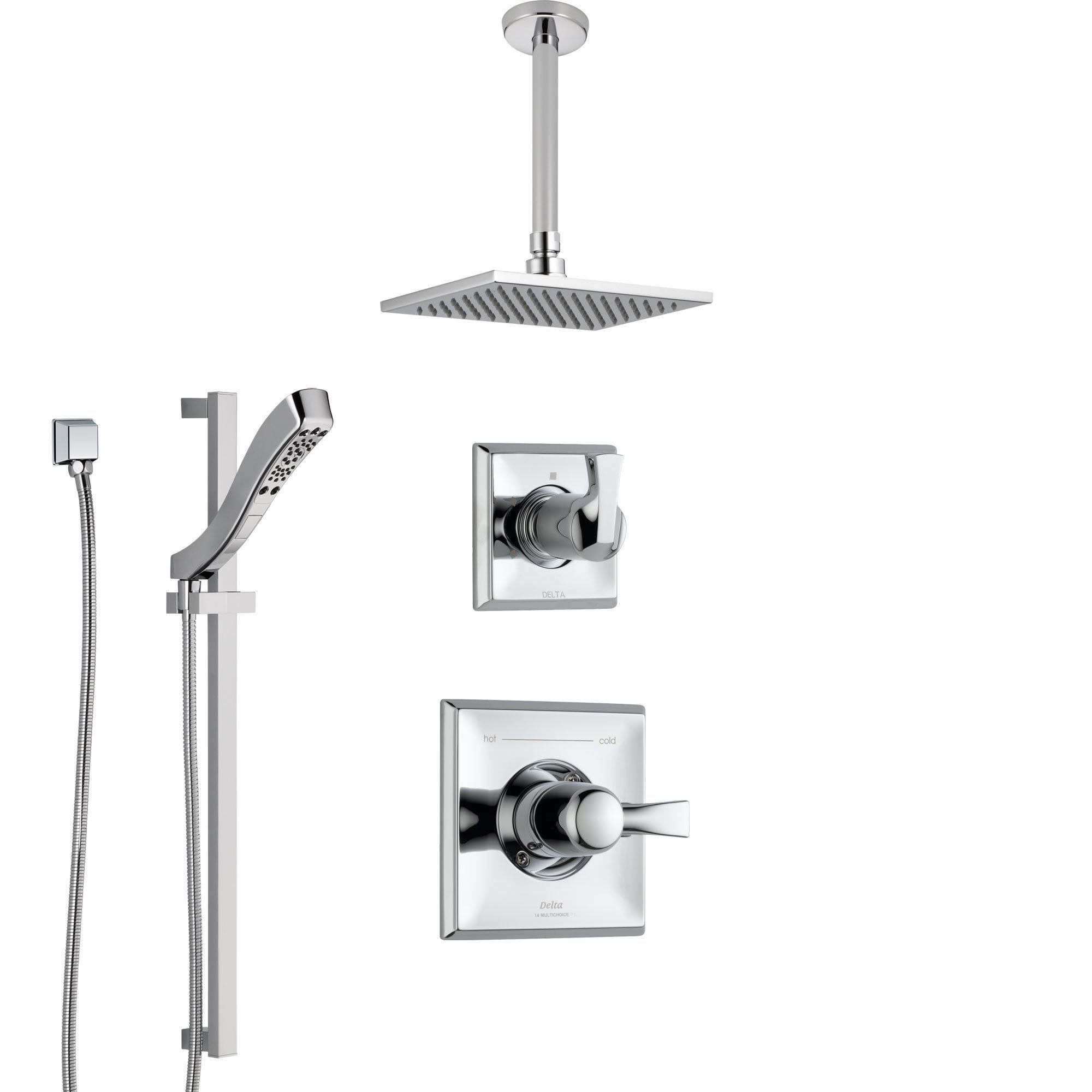 Delta Dryden Chrome Finish Shower System With Control Handle 3