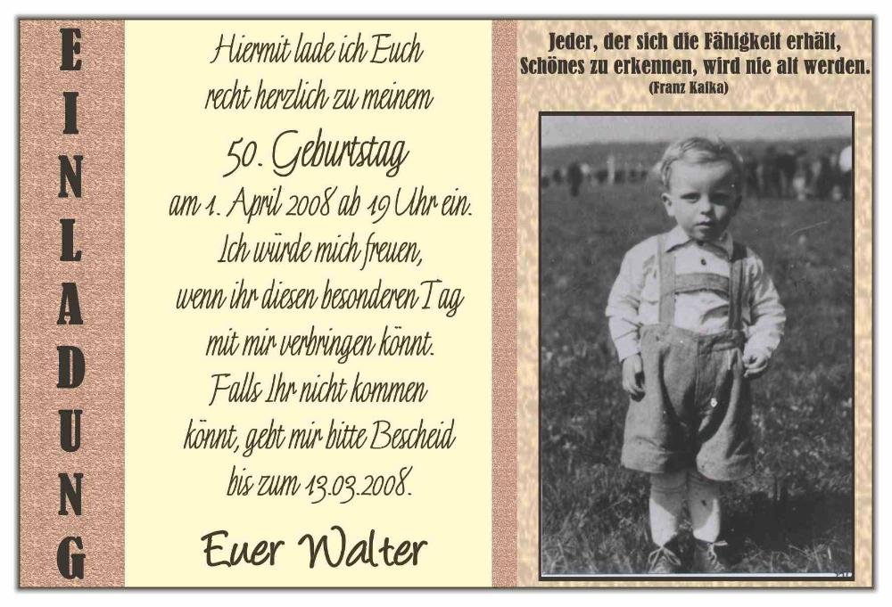 Einladung Geburtstag Einladung Zum 50 Geburtstag